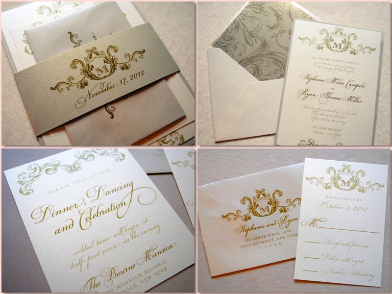 Gold Wedding Invitation Cuando me case Pinterest - invitaciones de boda elegantes
