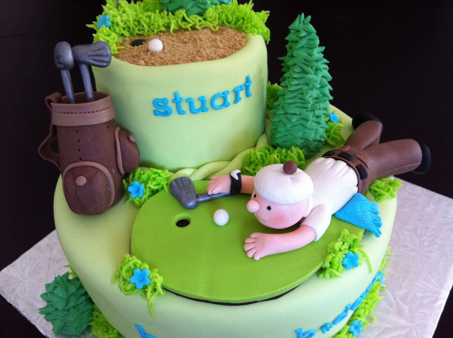 Golf Edible Cake Toppers