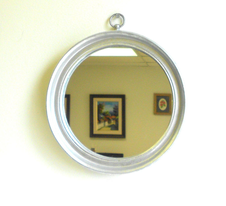Vintage Round Silver Wall Mirror,Decorative Silver Leaf Round Wall ...