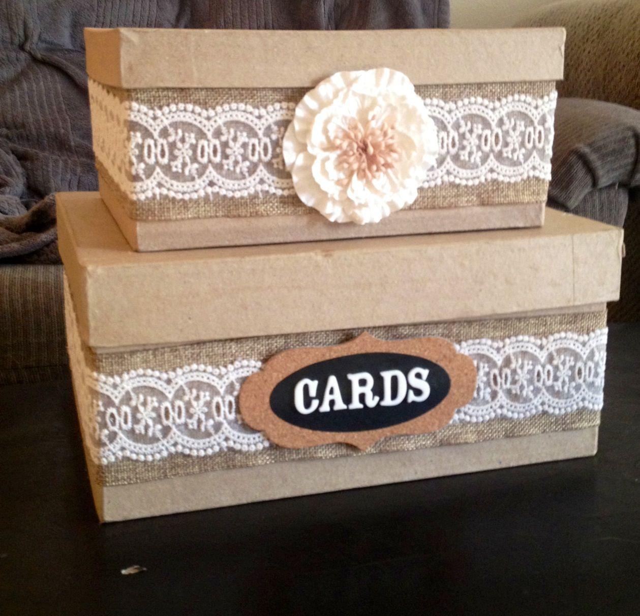 DIY Country wedding card box Wedding Pinterest – Wedding Reception Card Box Ideas