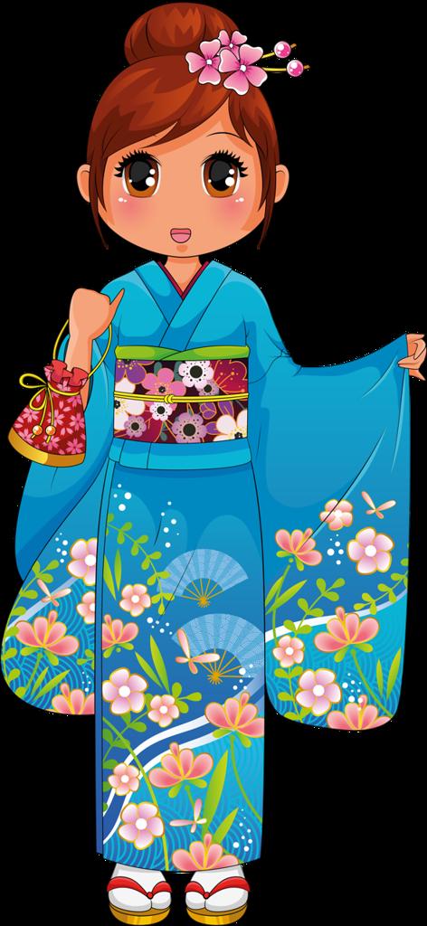 Картинка для детей кимоно