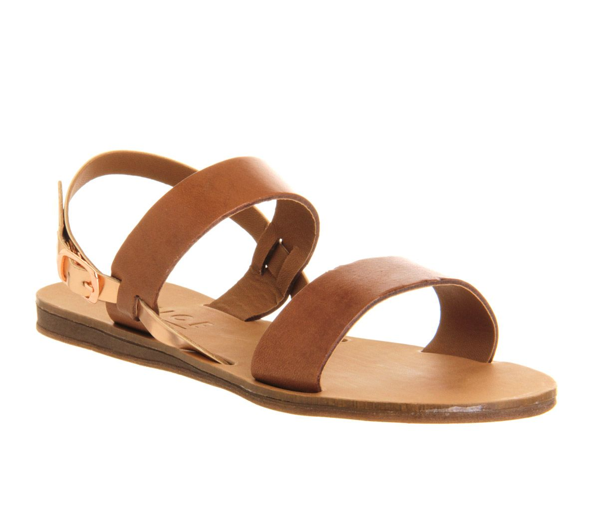 Office Honey Sling Back Sandal Tan Leather - Sandals
