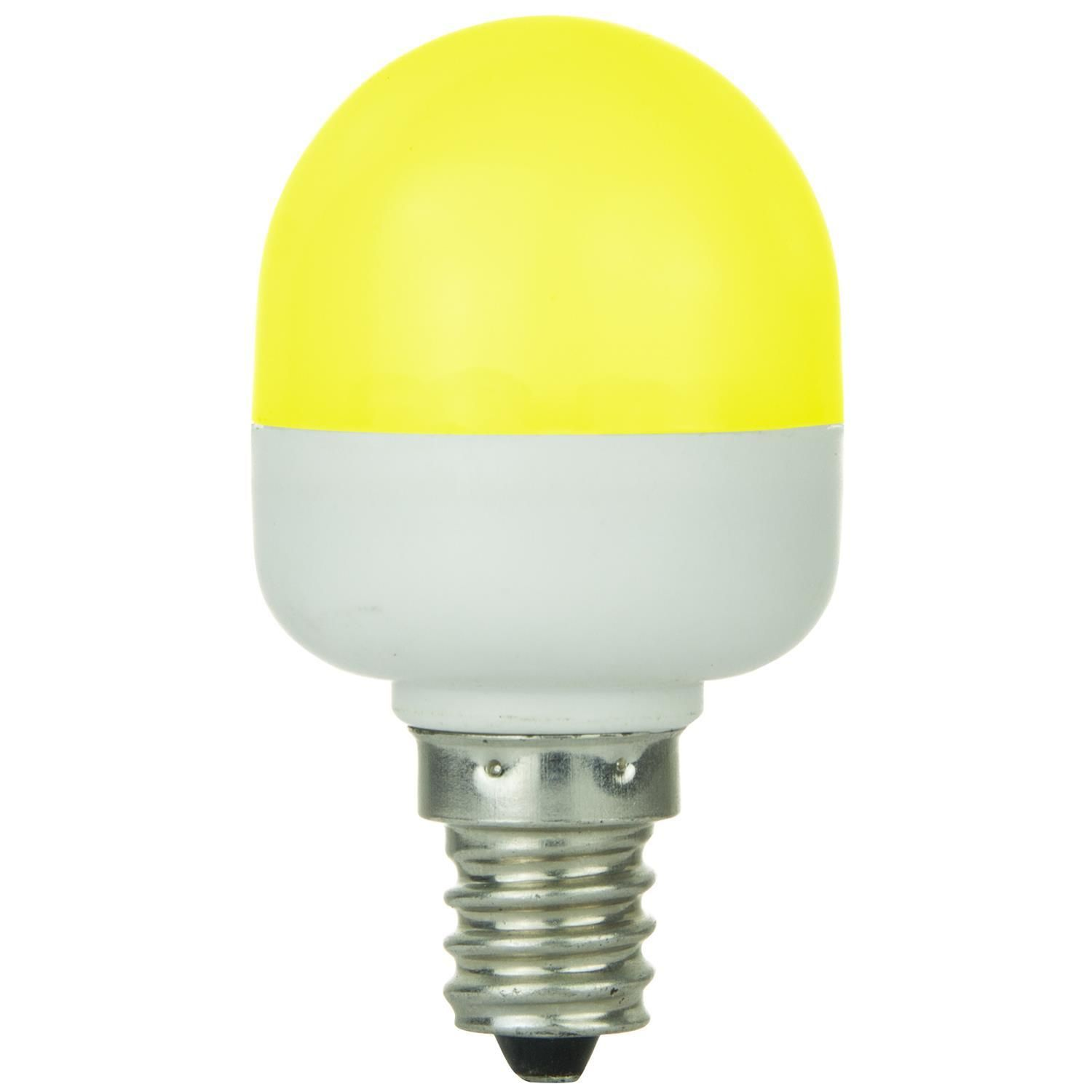 Sunlite 80272 Su T10 Tubular Indicator Candelabra Base Light Bulb Yellow Light Bulb Bulb Fluorescent Bulb