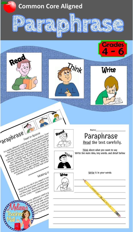 Paraphrase Activity 3 Easy Step To Paraphrasing Non Fiction Activitie 4th Grade Reading Response Example A I Quizlet