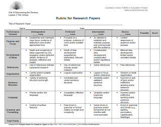 2know8 Rubric For Research Paper Research Plan Rubrics Book Report Rubric Research Paper