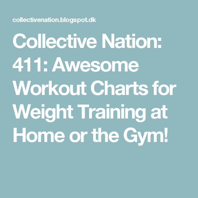 collective nation 411 awesome workout charts for weight training