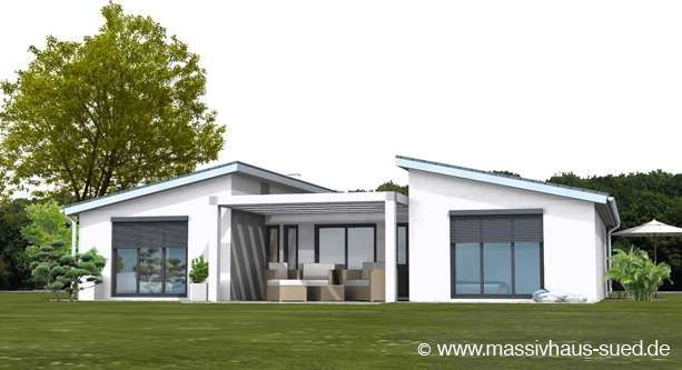 Moderne häuser mit versetztem pultdach  Bungalow, Typ Bungalow 145 | haus | Pinterest | Grundrisse ...