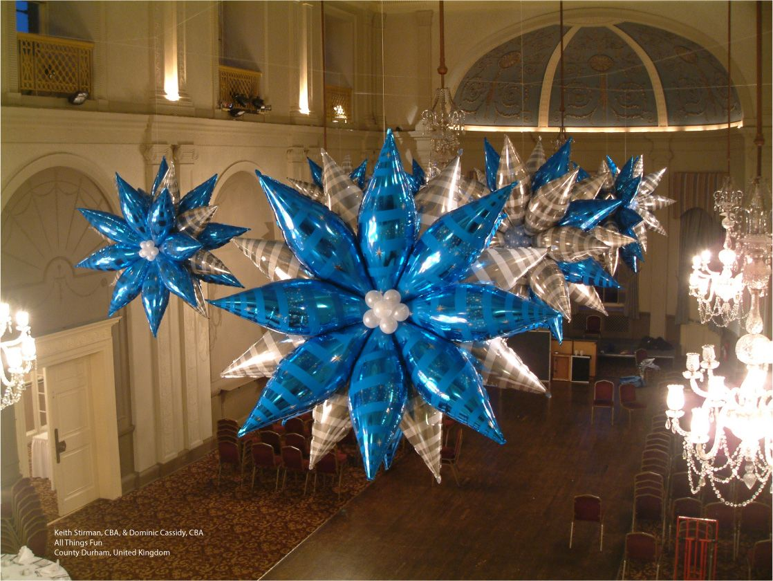 these giant balloon snowflakes are made with sapphire