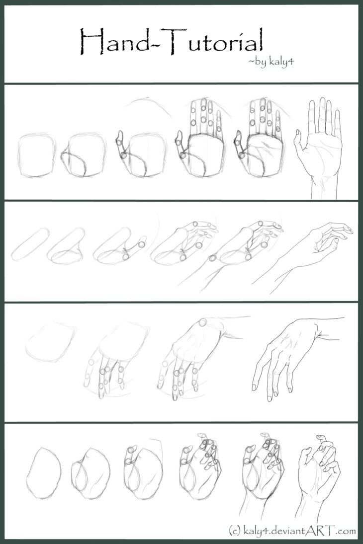 Hand Tutorial By Kaly4 On Deviantart Drawing For Beginners How To Draw Hands Beginner Sketches