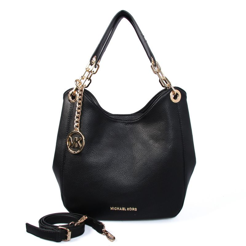 Michael Kors Fulton Large Leather Shoulder Bag (big)Black | mk pas ...