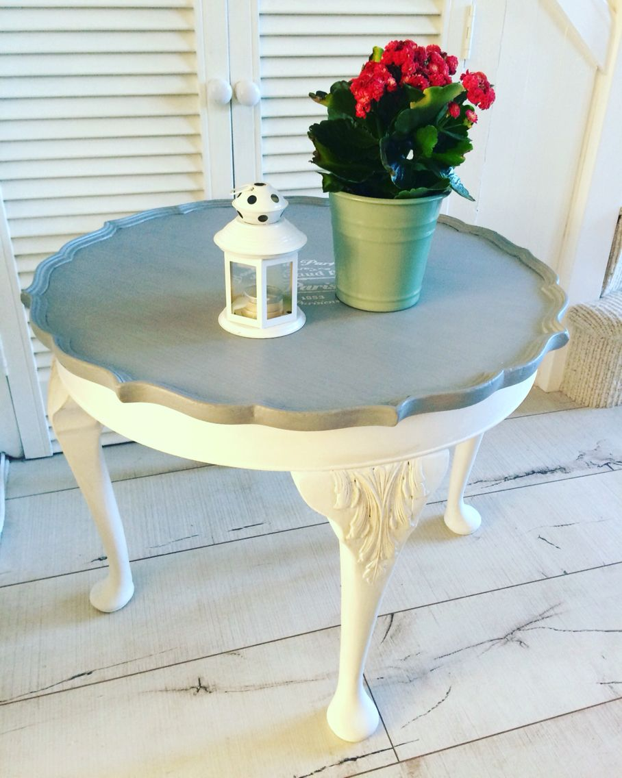 Coffee table with Queen Anne legs painted in #autentico # ...
