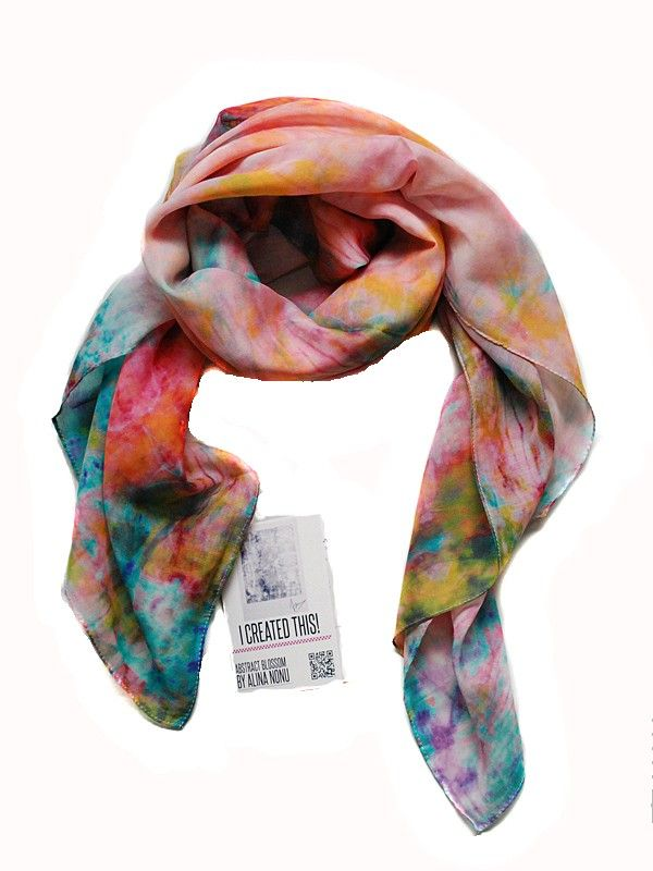 Front Row Abstract Blossom Scarf by Alina Nonu
