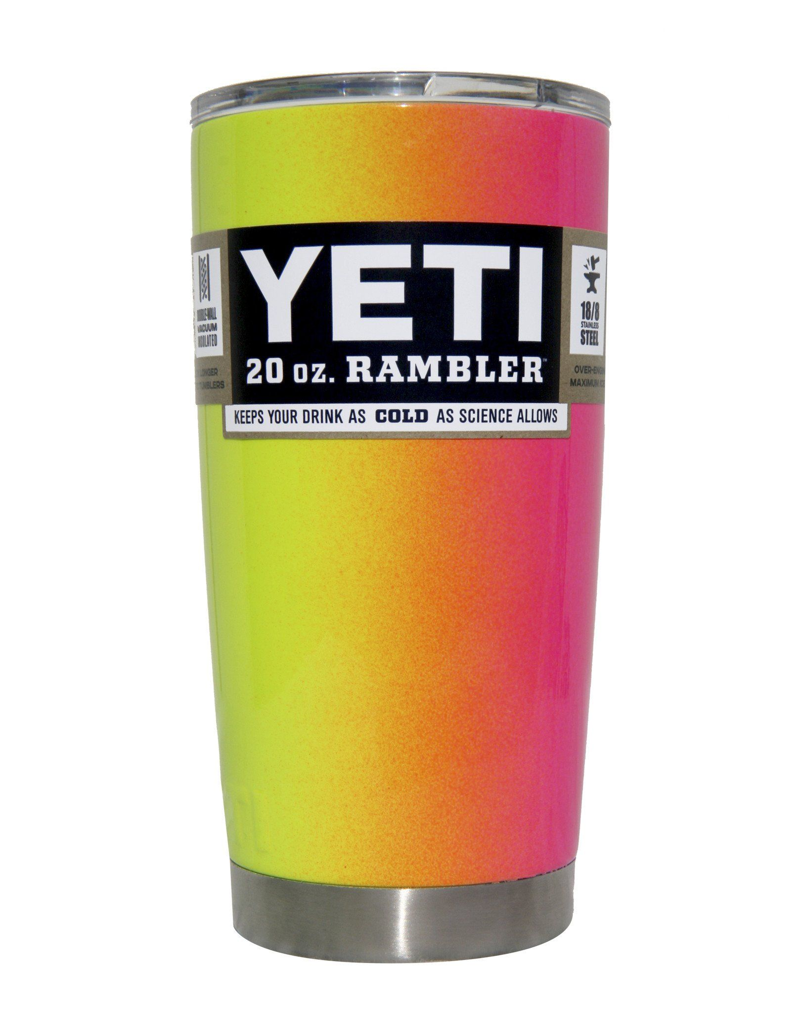 9dc754f7d65 Vertical Pink Lemonade Ombre Yeti 20 oz Rambler Tumbler Cup ...