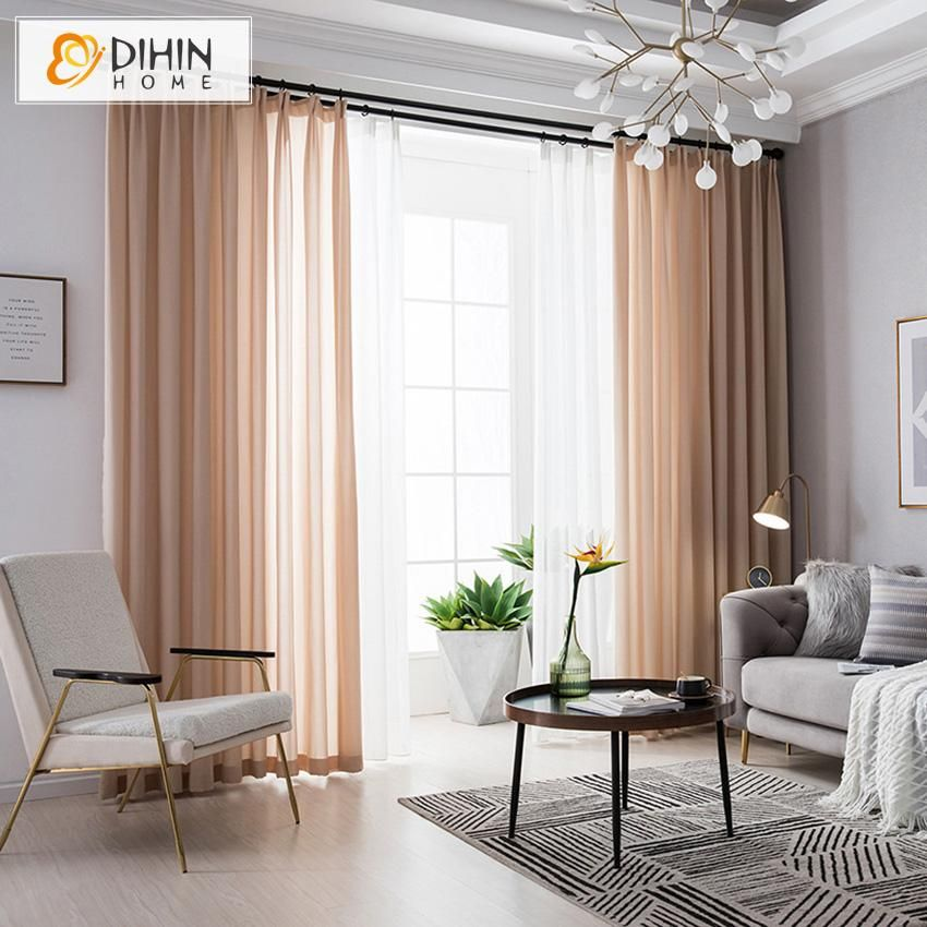 10+ Amazing Peach Living Room Curtains