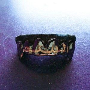 10 Karat Black Gold Ktz Poison Grillz Gold Teeth Grillz Gold Teeth