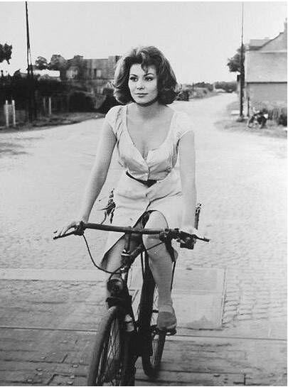 Irina Demick Irina Demick Sophia Loren Bicycle Girl