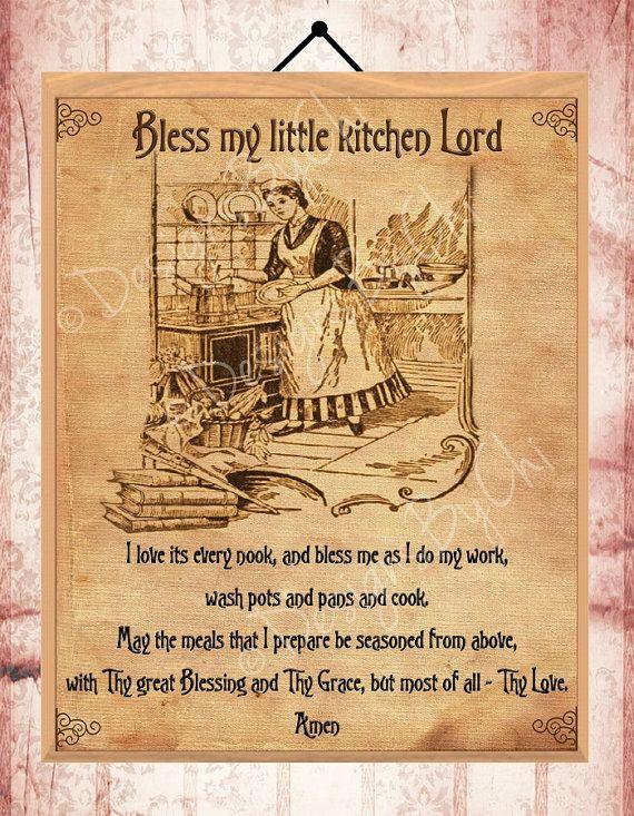 Vintage Kitchen Prayer vintage 8x10 wall art by DesignsByChi, £2.50 ...