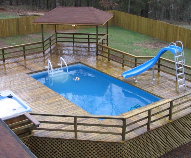 How To Build A Deck Next To An Above Ground Pool Inyopools Com Diy Resources Building A Deck Pool In Ground Pools