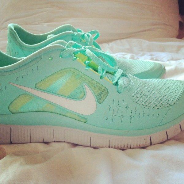 Nike Free Run Sarcelle Et Mariage Blanc