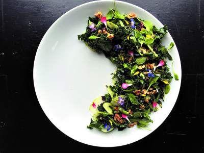 Ensalada de acelga y castañas en versión vegana