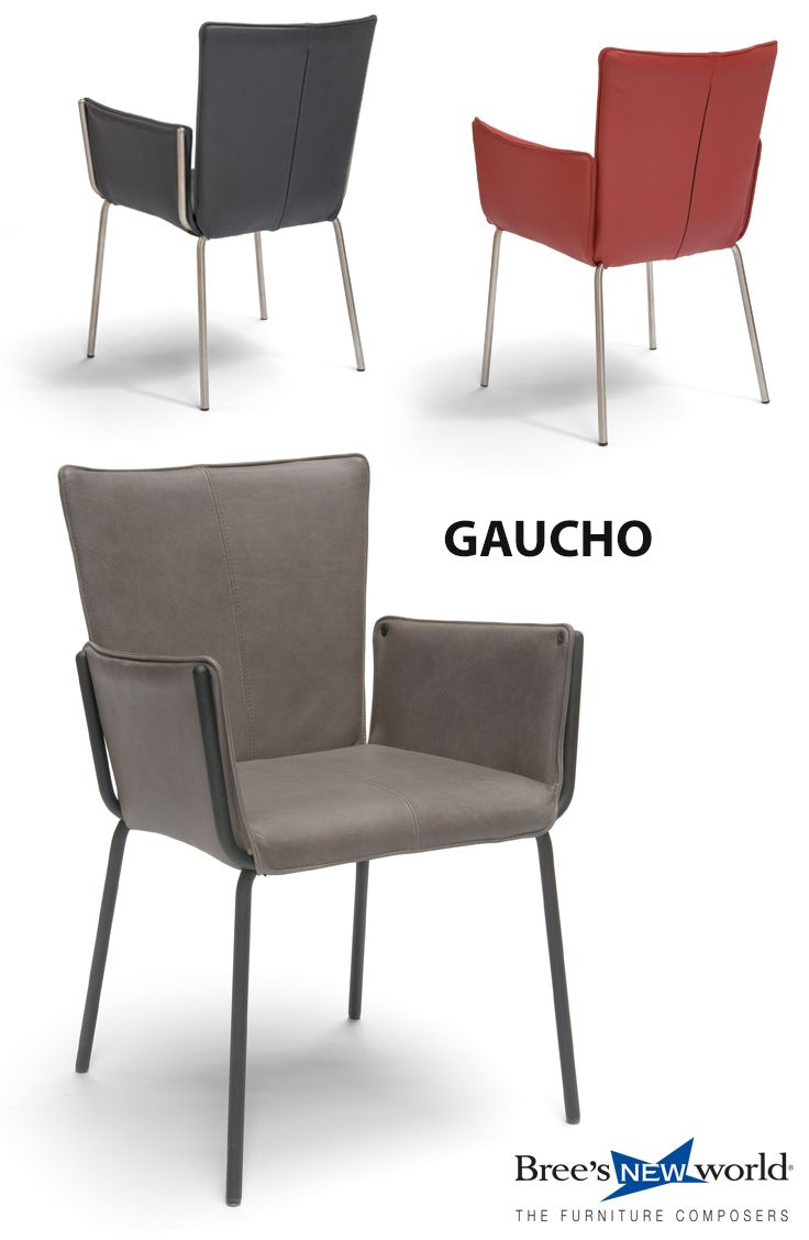 Eetkamerstoel Rvs Zwart.Gaucho Design Eetkamerstoel Met Armleuning Frame In Rvs Of