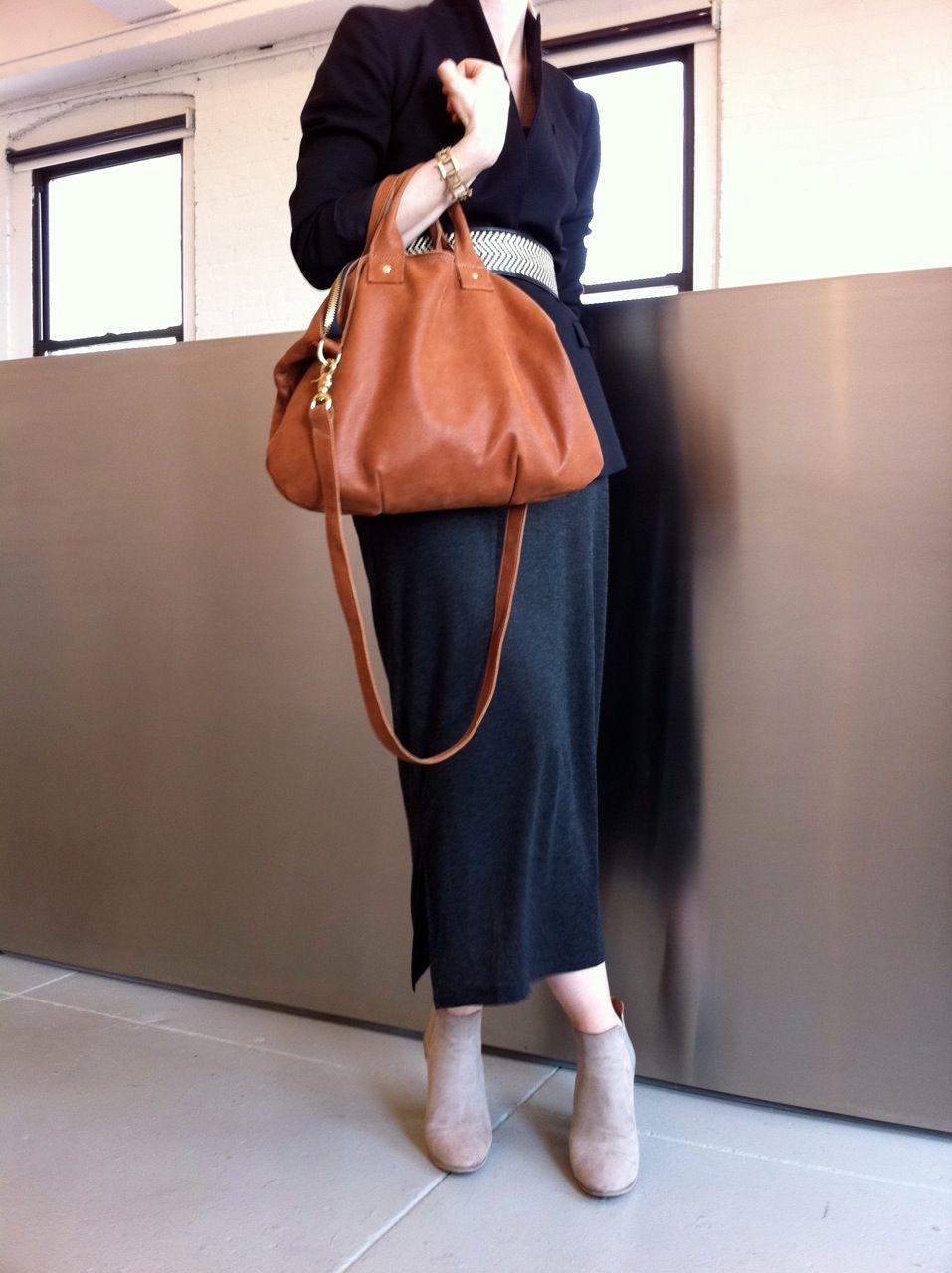 Clare Vivier Messenger Bag In Cognac