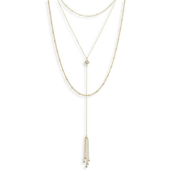Jules Smith Triple Crystal Lariat Y Necklace Gold wMSM6Z6ixC