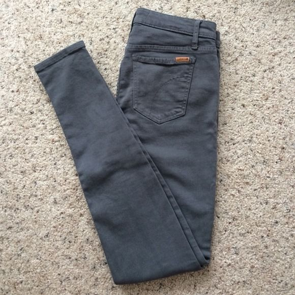 """Joe's Jeans Gray Skinny Classic gray skinny jeans from Joe's Jeans. Worn only a handful of times, excellent condition! 93% cotton, 6% polyester, 1% lycra make them stretchy and comfy! Inseam 32.5"""" size 28. Joe's Jeans Jeans Skinny"""