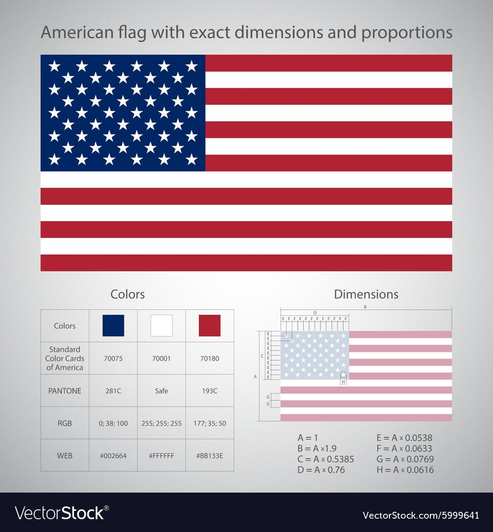 American Flag With Exact Dimensions And Proportions Eps 10 Download A Free Preview Or High Qualit In 2020 American Flag Wood Wooden American Flag American Flag Pallet