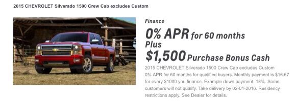 Special Incentives On New 2015 Silverados Through 2 1 2016 Bonus Cash 2015 Chevrolet Silverado 1500 Finance