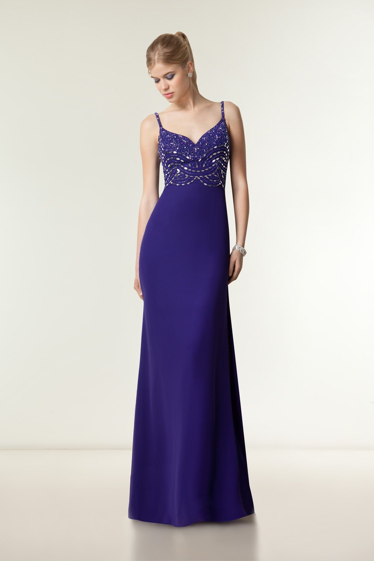 E271 - Vestido de Fiesta - Demetrios Bride | vestidos de noche ...