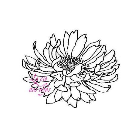 scrapbooking tampons fleur