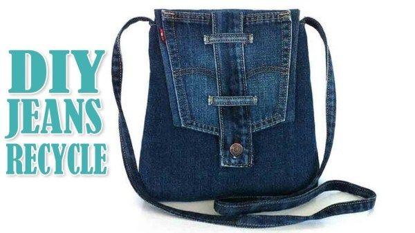 Photo of Resirkulert denimpung – Bruker lommer, midjebånd, belte-løkker fra jeans