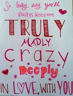 Truely madly deeply song lyrics pinterest truly madly deeply truly madly deeply my drawing for my one direction wall im working on thecheapjerseys Image collections