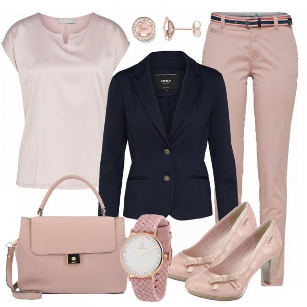 Fashion Beauty Internships: Schönes Outfit Fürs Büro Aus Rosa Bluse Und Rosa Hose