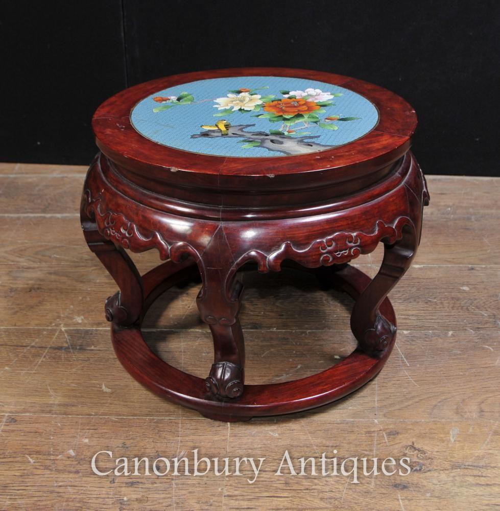 Antique chinese cloisonne hardwood pedestal stand table pedestal antique chinese cloisonne hardwood pedestal stand table reviewsmspy