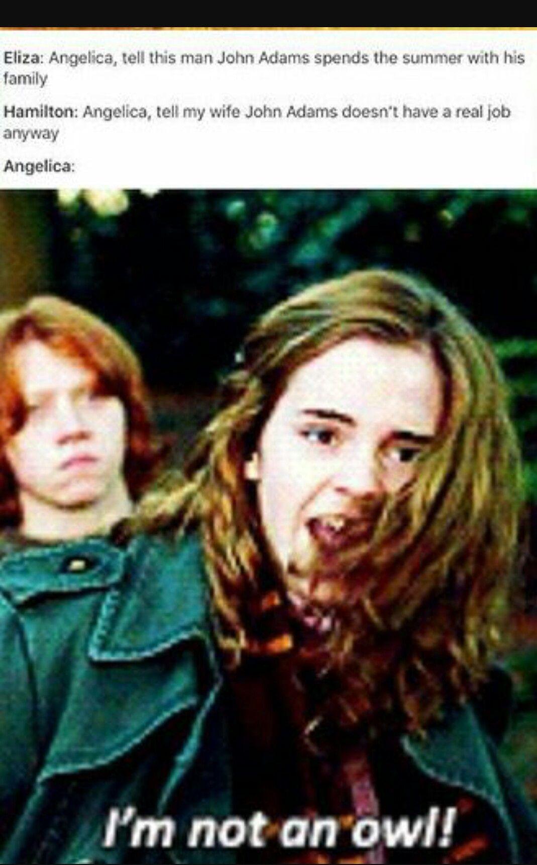 Potter4ham Hamilton Funny Hamilton Memes Harry Potter Hermione