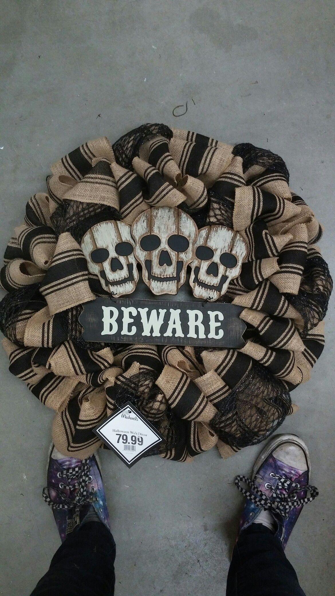 Burlap wreath Halloween '16 Store 7721 Halloween wreath