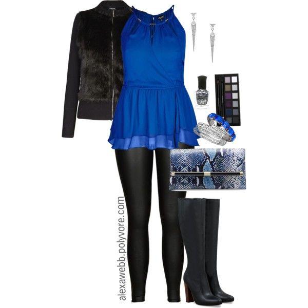 "#plus #size #fashion #alexawebb  ""Plus Size - NYE Chiffon & Fur"" by alexawebb on Polyvore  @alexandrawebb"