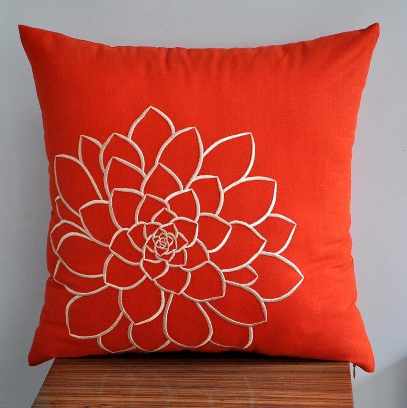 Orange Pillow Cover Decorative Throw Por Kainkain