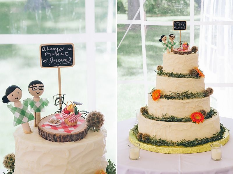 Woodend Picnic Themed Wedding Cake