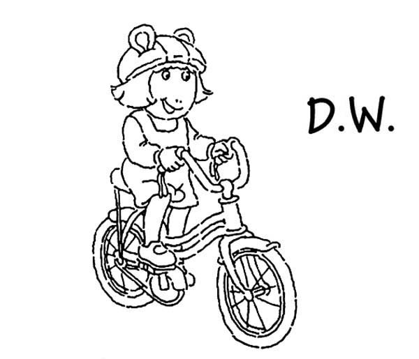 Dw Riding A Bicycle In Arthur Coloring Page Coloring Sun Coloring Pages Color Coloring Pages For Kids