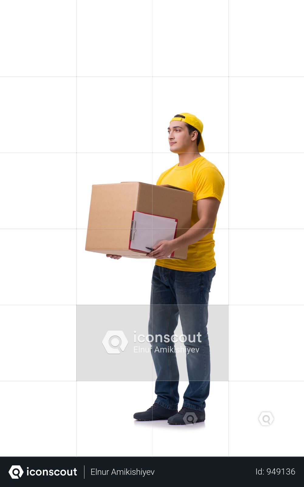 Premium Funny Delivery Boy With Box Isolated On White Photo Download In Png Jpg Format Delivery Photos Photo Boys