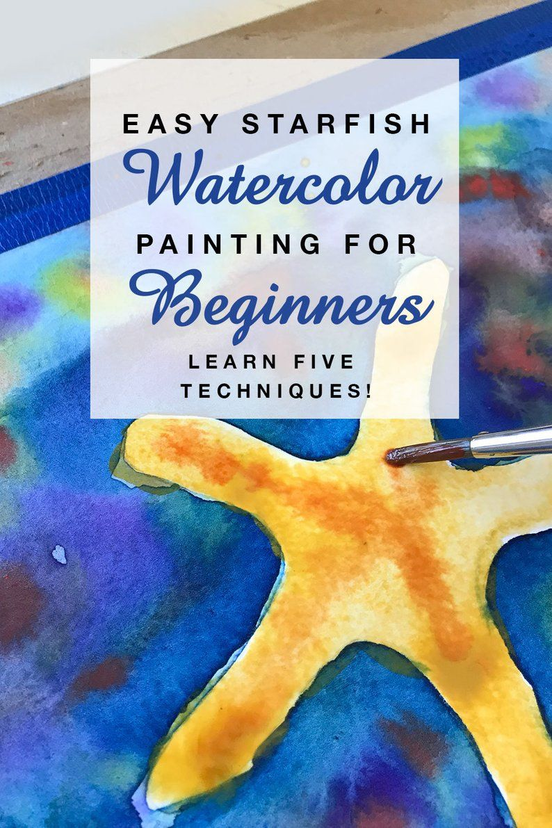 Easy Starfish Watercolor Painting For Beginners Step By Step