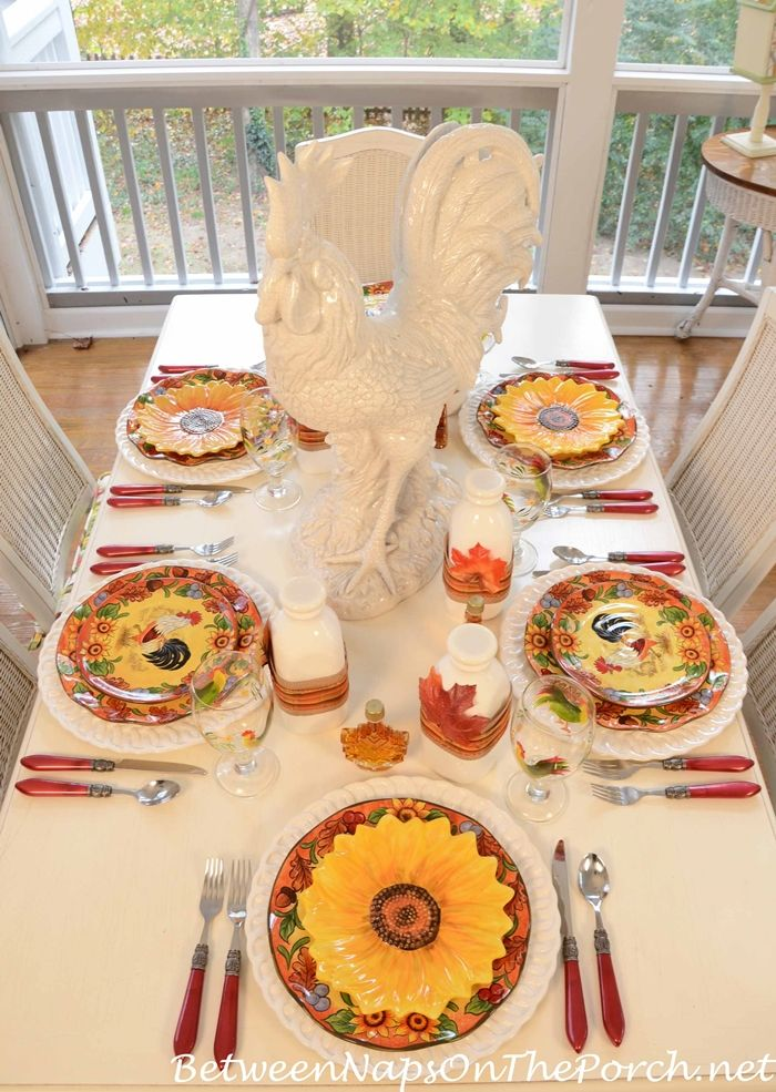 A Pancake Breakfast On The Porch | Porch, Breakfast table setting ...