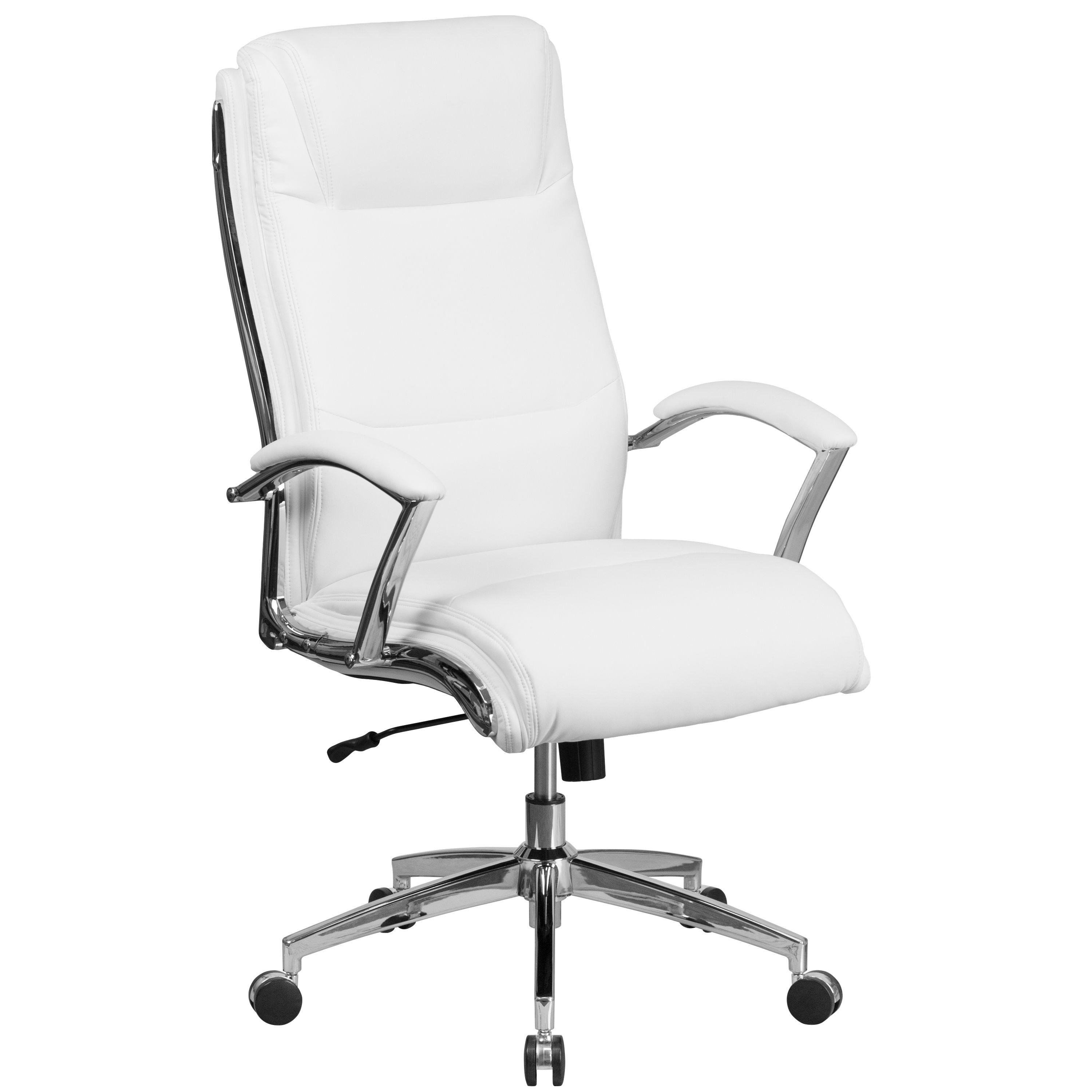 Home In 2020 White Leather Office Chair Swivel Office Chair Contemporary Office Chairs