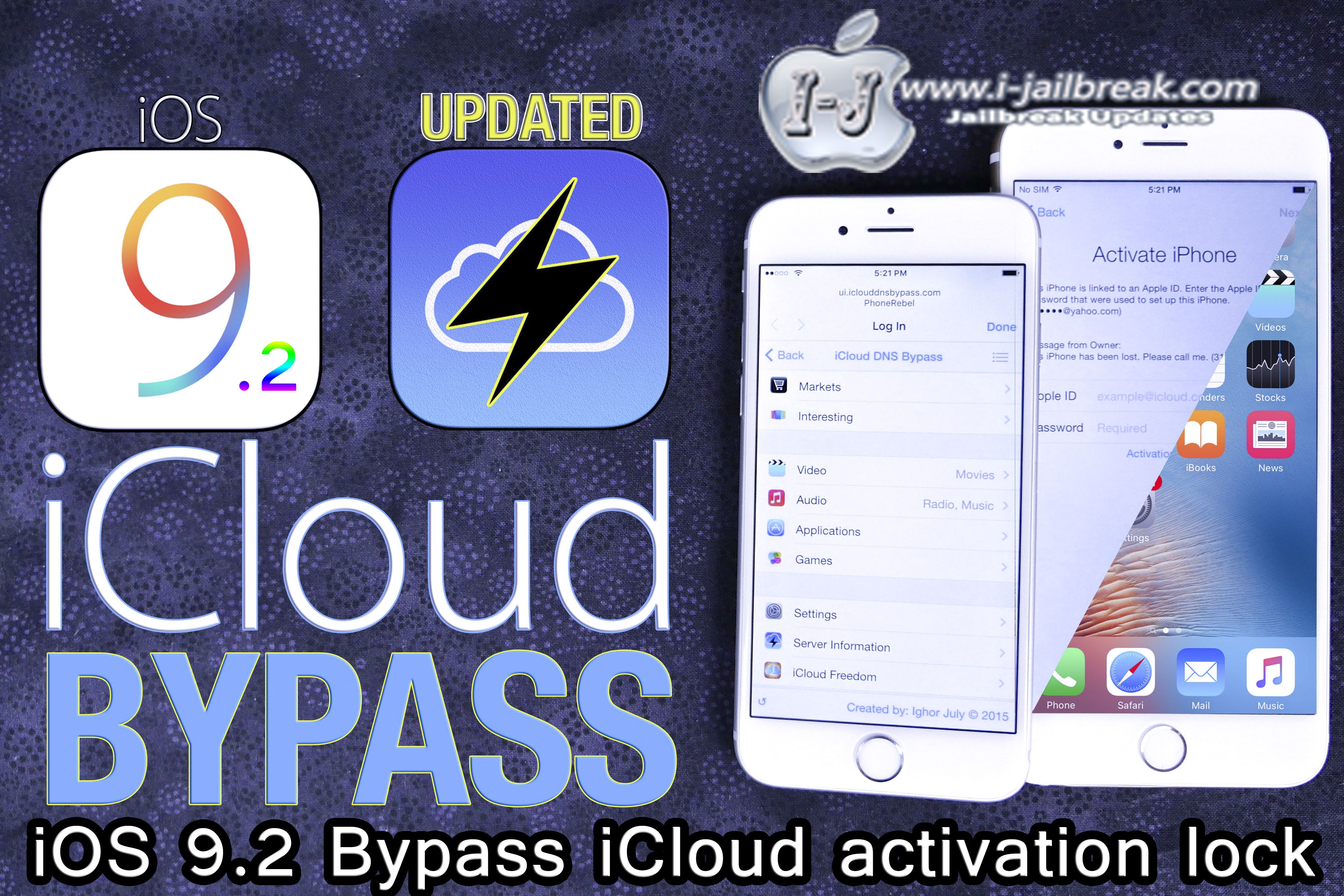 iOS 9 2 Bypass iCloud activation lock | Projects to Try