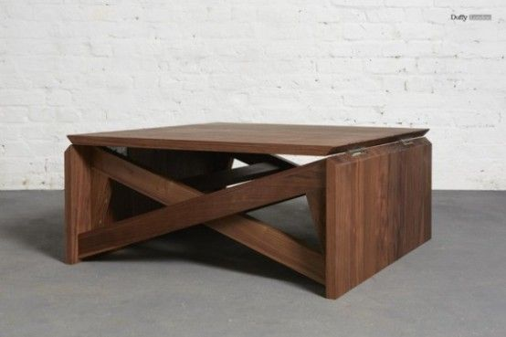 Coffee Table That Turns Into A Dining Or Beer Pong And Looks Elegant Too