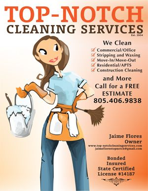 TopNotch Cleaning Services Business Flyer Design  Cleaning