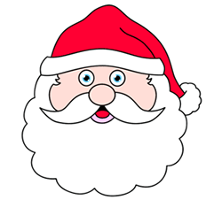 Christmas Decorations Drawings Easy.Santa Head Cartoon Image Christmas Drawing How To Draw